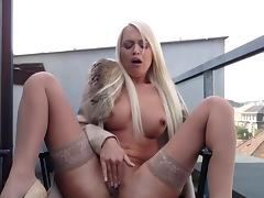 Cigarette, Big Tits, Blonde, Fetish, Fingering, Masturbation