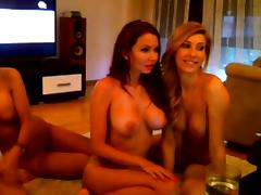 Lesbians Having A Webcam Party