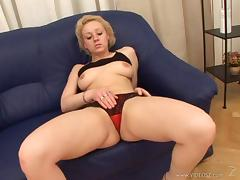 Curvy Lesbian Cougar In Panties Getting Her Shaved Pussy Fingered