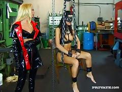 Bondage and discipline for humble slaves with sex toys