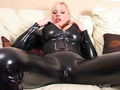 Tight, Blonde, Couple, Fetish, Hardcore, Leather
