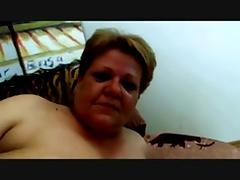 Horny Fat Granny fucked hard in Couch