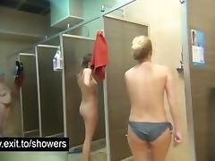 Milfs and Grannies spied in a public shower