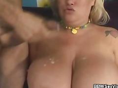 BBW Kacey Gets Cum Drenched