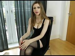 British, British, Masturbation, Stockings
