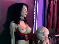 Latex Lesbian Dominatrix and Submissive