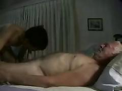 silver grandpa with youger asian - perfect blowjob