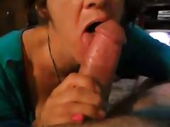 Granny proves her cock sucking skills
