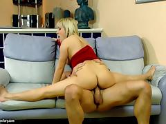 Flexible legs of a MILF get thrown around the room