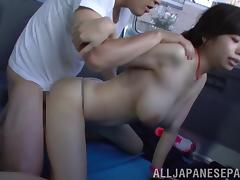Pulling her pink yoga pants down and fucking her hard