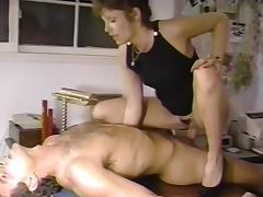 Bionca, Cara Lott, Racquel Darrian in vintage sex video