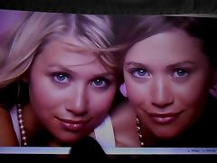 Cum Tribute for the Olsen Twins