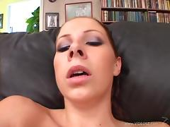 Cute Cougar with big tits masturbates,gives blowjob in POV and drilled Hardcore