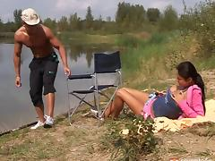Nature trip evolves into fantastic outdoor fucking for amateur couple