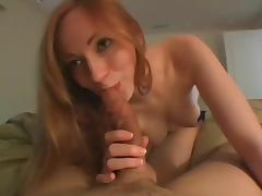 Amateur pov video with me shagging a redhead bitch
