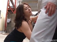 Covering her juicy tits with his hot jizz after a titty fuck