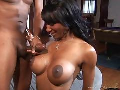 Naughty porn hot chick Shi Reeves gets fucked hard doggystyle