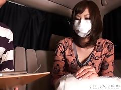 Backseat, Asian, Backseat, Blowjob, Bra, Couple