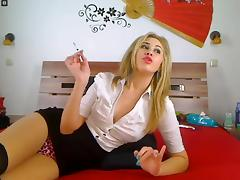 Webcam Girl Smoking Cigarette 3