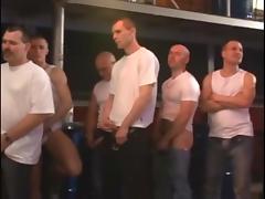 Girl sucks and fucks 50 guys in fast motion