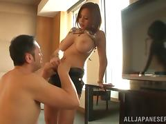 Lingerie clad Asian amateur enjoys a hardcore pussy drilling session