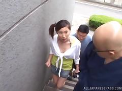 Japanese amateur shows off her creampied ass after a hard fucking