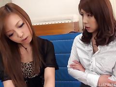 Elegant college professor is seduced by a sexy Japanese lesbian