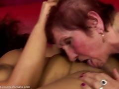 Dirty grannies fuck young sweet girls