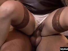 Blowjob, Blonde, Blowjob, Cumshot, European, Lingerie