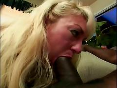 Black Granny, Black, Blonde, Deepthroat, Ebony, Interracial