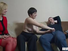 A dude gets to bang a couple of horny mature amateurs