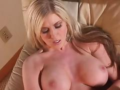 Smoking hot big tits blonde masturbating solo