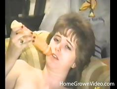 Retro housewife hotties masturbate and fuck in a compilation