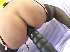 Huge Insertions - Horny MILF Stuffs Her Asshole