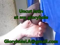 Uncut Latin Weenie at my gloryhole