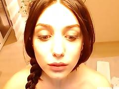 Hot Brunette Masturbating On Cam
