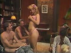 Hot retro group sex action with Nina Hartley