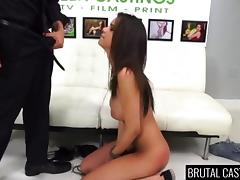 Brutal, Audition, Babe, Banging, Blowjob, Brunette