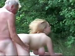 Grandfather, Big Tits, Fucking, German, Grandpa, Hardcore