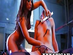 Lesbian Ann Marie Rios use toys on friend
