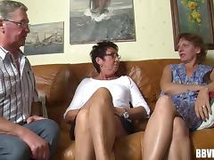 Orgy, German, Grandpa, Granny, Group, Mature