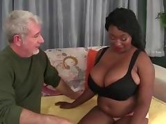 BBW Big Tit Sista'  fuck n' suck Old White boy