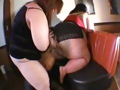 two japan bbw on one skinny man