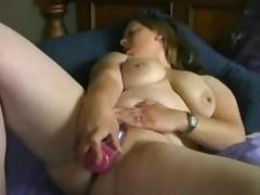 Very Horny Fat BBW GF loves masturbating everyday.