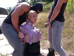 Masked guy kidnap a chick, fuck her and piss on her