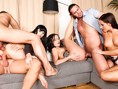 Kari, Ally Style, Niki Sweet, Steve Q, Tarzan in 5 Incredible Orgies, Scene #03