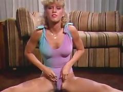 Jerking, Blonde, Dance, Jerking, Masturbation, Vintage
