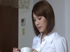 Seductive Asian cougar with big fabulous tits enjoying a hardcore fuck