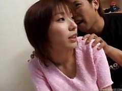Asian MILF shows off her blowjob skills then gets fucked