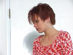 2 redhead lesbians using a dildo